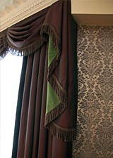 Hotel curtains and shutters